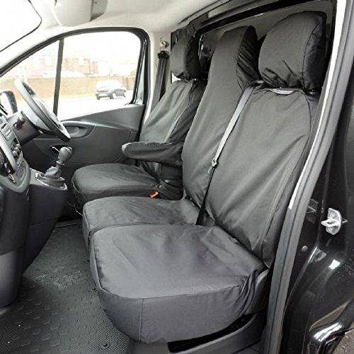 UK Custom Covers SC147B Tailored Heavy Duty Waterproof Front Seat Covers - Black