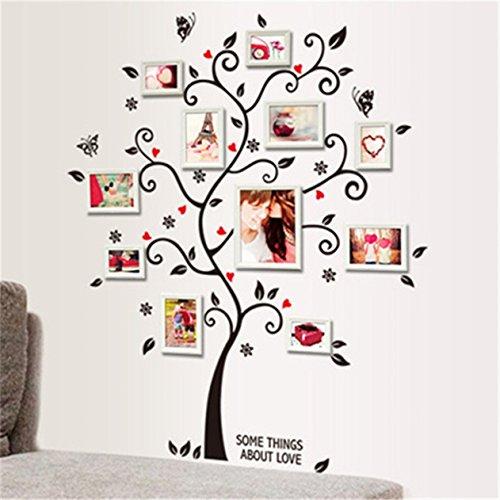 1 Set Photo Frame Tree Vintage Poster Wall Stickers Living Room Bedroom Teen Nursery Paradisiac Popular Dream Butterfly World Moon Star Ocean Sun Flower Vinyl Window Mural Art Decor