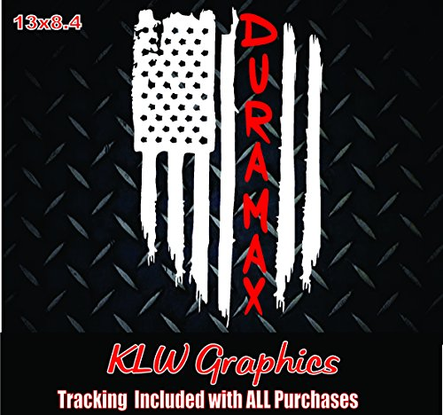 Duramax Diesel American Flag Vinyl Decal