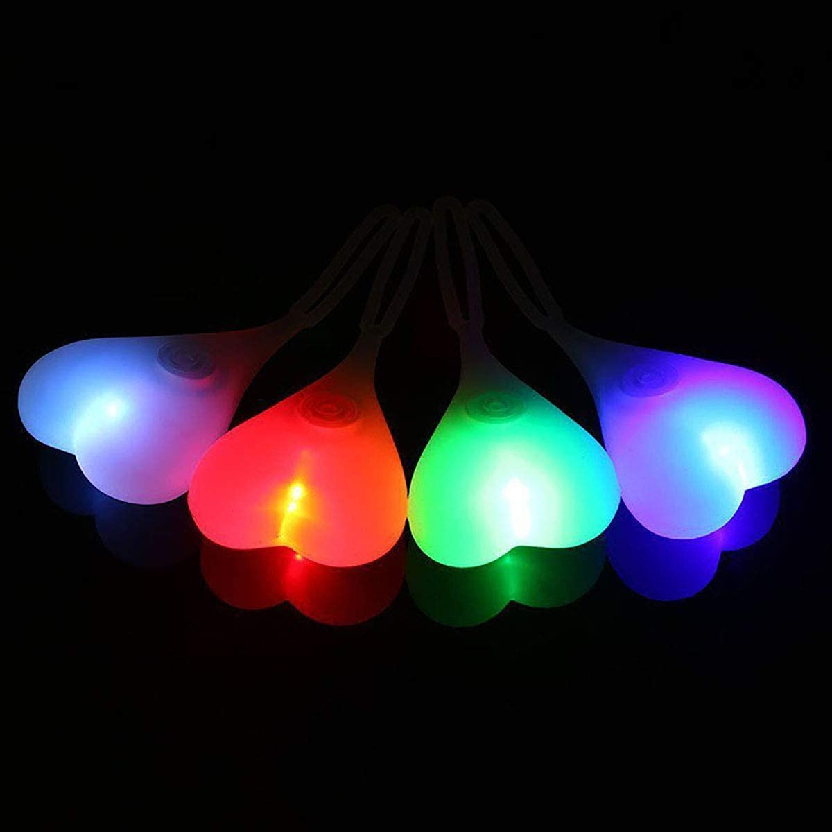 BIKE BALL LIGHTS Cycling LED Flash Night Heart Safety Rear Tail Light Bicycle