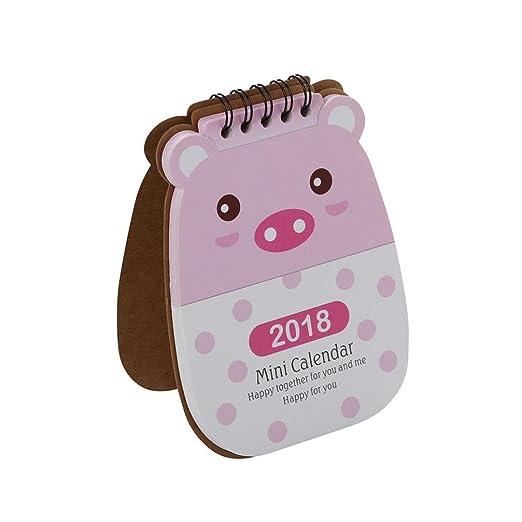 Calendario de escritorio, inkach 2018 Cute Cartoon Animal ...