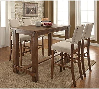 Amazon.com - Furniture of America Sinuata Farmhouse 5-Piece ...