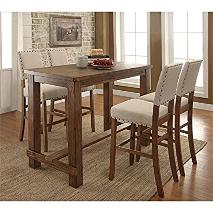 Delicieux Furniture Of America Whunter 5 Piece Pub Set In Natural Tone