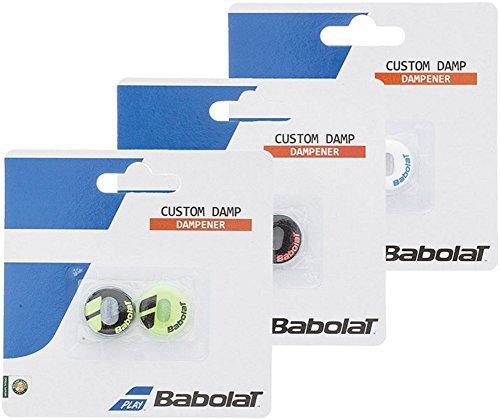 babolat custom damp blackyellow one size by babolat