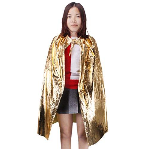 Andux Land Capa con capucha de cosplay para niños ETPF-01 (Oro)