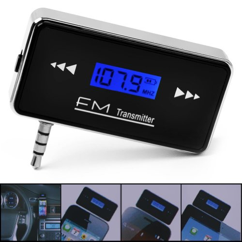 3.5mm Jack Stereo Radio Car Fm Transmitter for Smart Phone Mp3 Tablet (Black)