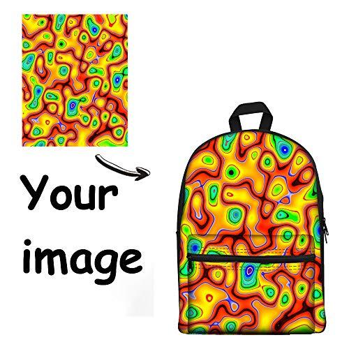 FOR U DESIGNS Cool Custom Shoulder Backpack Teens Kids School Bag