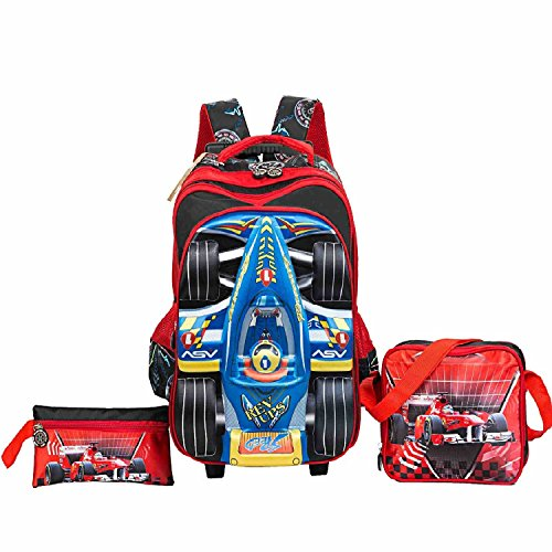 a22c96900f HIGOGOGO 3 Pieces Boys Rolling Backpack Set