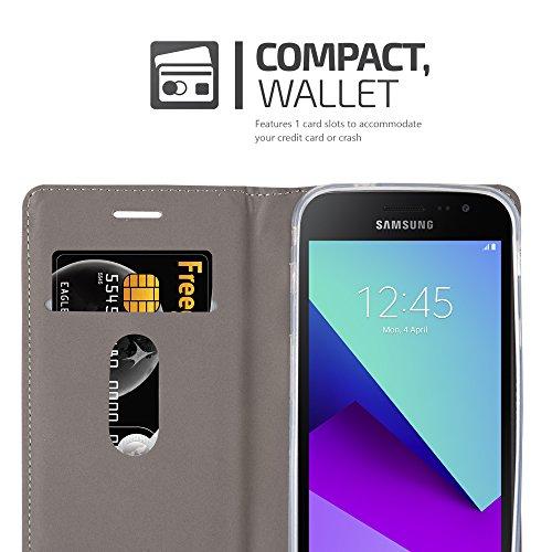 Cadorabo - Funda Estilo Book para >                                      Samsung Galaxy Xcover 4                                      < de Diseño Tela / Cuero Arificial con Tarjetero, Función de Soporte y Cierre Magnético Invisible