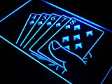 Straight Flush Poker Casino Game LED Sign Neon Light Sign Display j428-b(c)