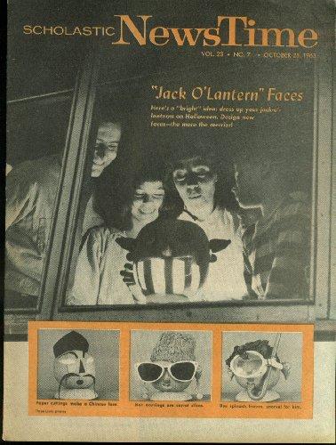 SCHOLASTIC NEWS TIME 10/25 1963: Jack O'Lantern Halloween War on (Halloween For Hunger)