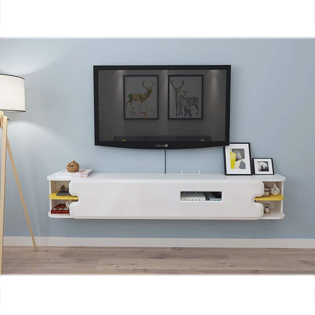 壁掛け棚テレビフローティング棚テレビコンソールテレビキャビネットルーターラック収納ボックス多機能ディスプレイ棚 B07R3SP9WQ