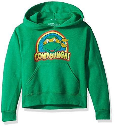 Nickelodeon Boys' Big Cowabunga Pullover Hoodie, Kelly, M (10/12)