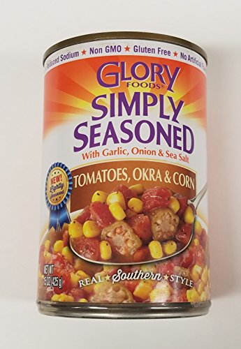 Glory Foods Sensibly Seasoned Tomatoes Okra and Corn  15 ...