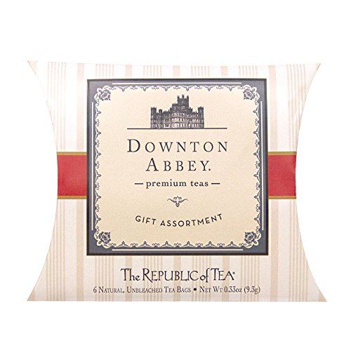 (The Republic Of Tea Downton Abbey Tea, 6 Tea Bag Sampler Pillow, Gourmet Collection Of Premium Teas)