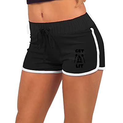 Get Lit Trendy Fitness Casual Women Authentic Short Running Short
