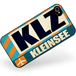 Rubber Case for iphone 4 4s Airportcode KLZ Kleinsee - Neonblond