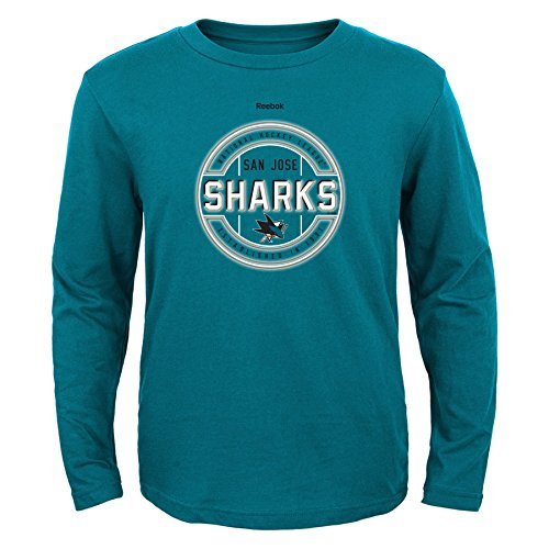 Performance Shark - NHL San Jose Sharks Boys Attacking Zone Performance Long Sleeve Tee, Large/(14-16), Black