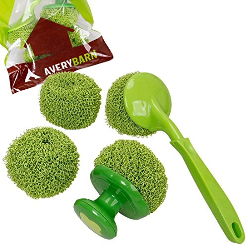 Avery Barn 4pc Kitchen Cleaning Scrubber And Dishwashing