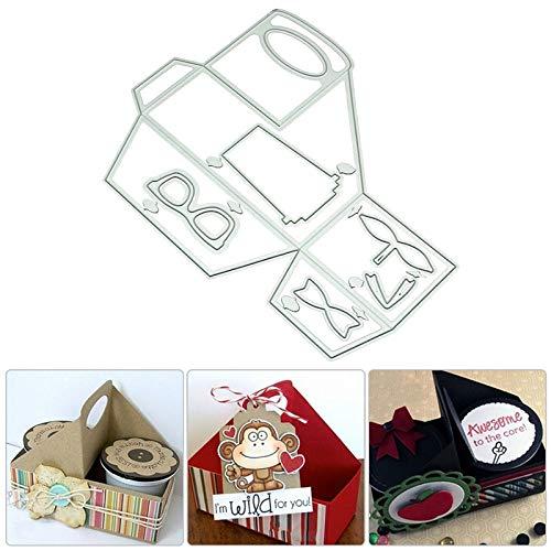 Best Quality - Cutting Dies - Portable Gift Box Stencil Metal Cutting Dies for DIY Scrapbooking Scrapbook Paper Album Stamps Craft Dies - by SeedWorld - 1 PCs