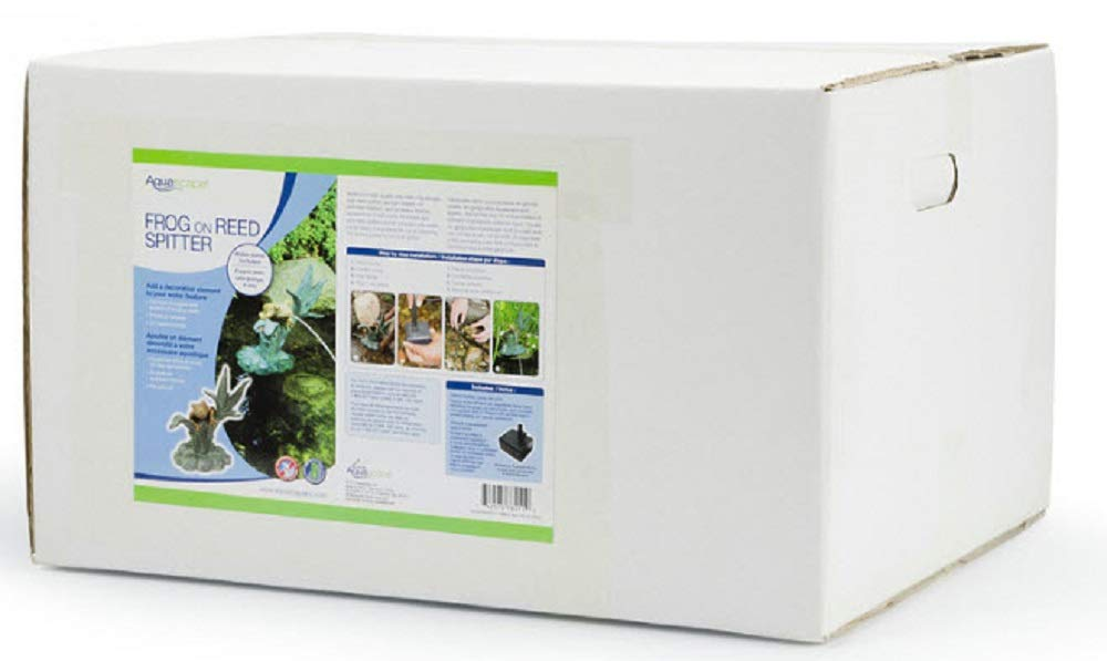 Aquascape Frog on Reed Fountain Spitter with Pump for Pond, Garden and Water Features | 78211 by Aquascape