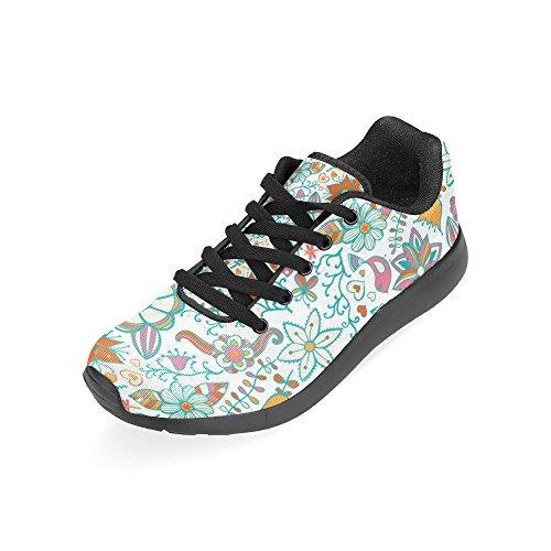 Scarpa Da Running Da Donna Winterprint Jogging Leggera Sportiva Da Passeggio Sportiva Da Atletica Leggera Paisley E Fantasia Fiori Multi 7
