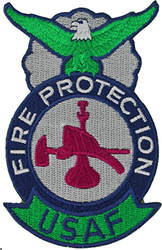 USAF Fire Protection Badge Bugle Hat & Axe ()