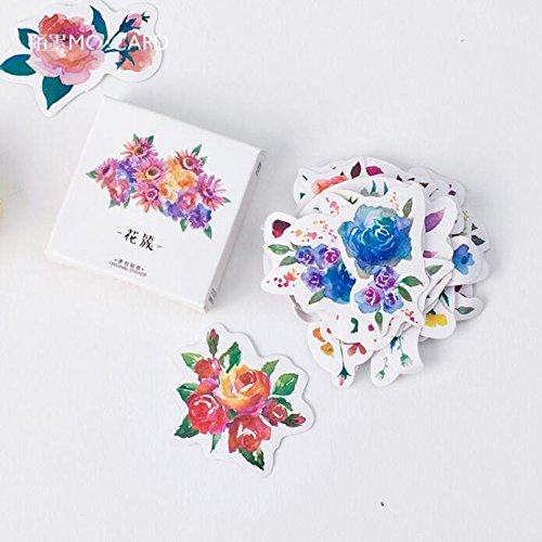Cacys-Store - 45 pcs/pack Blooming Flower Decorative Stickers Adhesive Stickers DIY Decoration Craft Scrapbooking Stickers Gift - Blooming Stationery