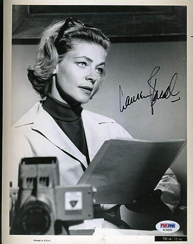 Entertainment Memorabilia Movies Fashion Style Lauren Bacall Autographed 8x10 Vintage Photo With Coa
