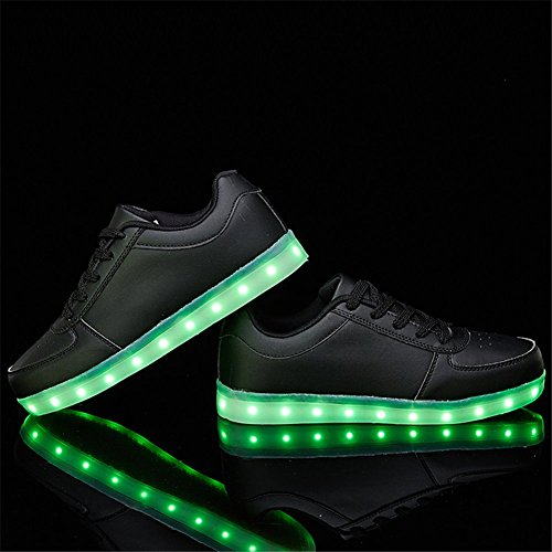 Charles Albert Usb Carga Luces Led Zapatos Sports Dancing Sneakers Negro