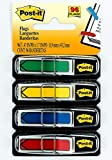 Post-it Arrow Flags, Assorted Primary Colors.47 in. Wide, 24/Dispenser, 4