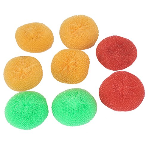 UXcell Plastic Wire Round Ball Bowl Dish Washing Scouring...