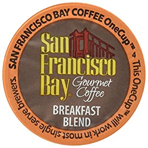 San Francisco Bay OneCup, Breakfast Blend, 120 Count- Single Serve Coffee, Compatible with Keurig K-cup Brewers