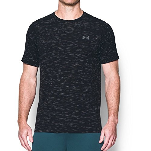 Under Armour Men's Threadborne Seamless T-Shirt,Black/Graphite, X-Large by Under Armour