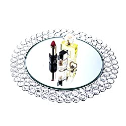 Crystal Mirrored Jewelry Tray