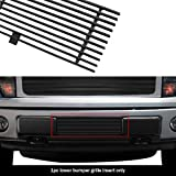 APS Compatible with 2009-2014 Ford F150 F-150 Pikcup Bumper Black Billet Grille Grill Insert