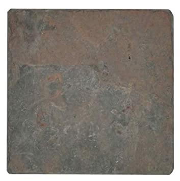 ICJ 99112 4-Inch by 4-Inch Slate Wall and Floor Tile - Ceramic Tiles ...