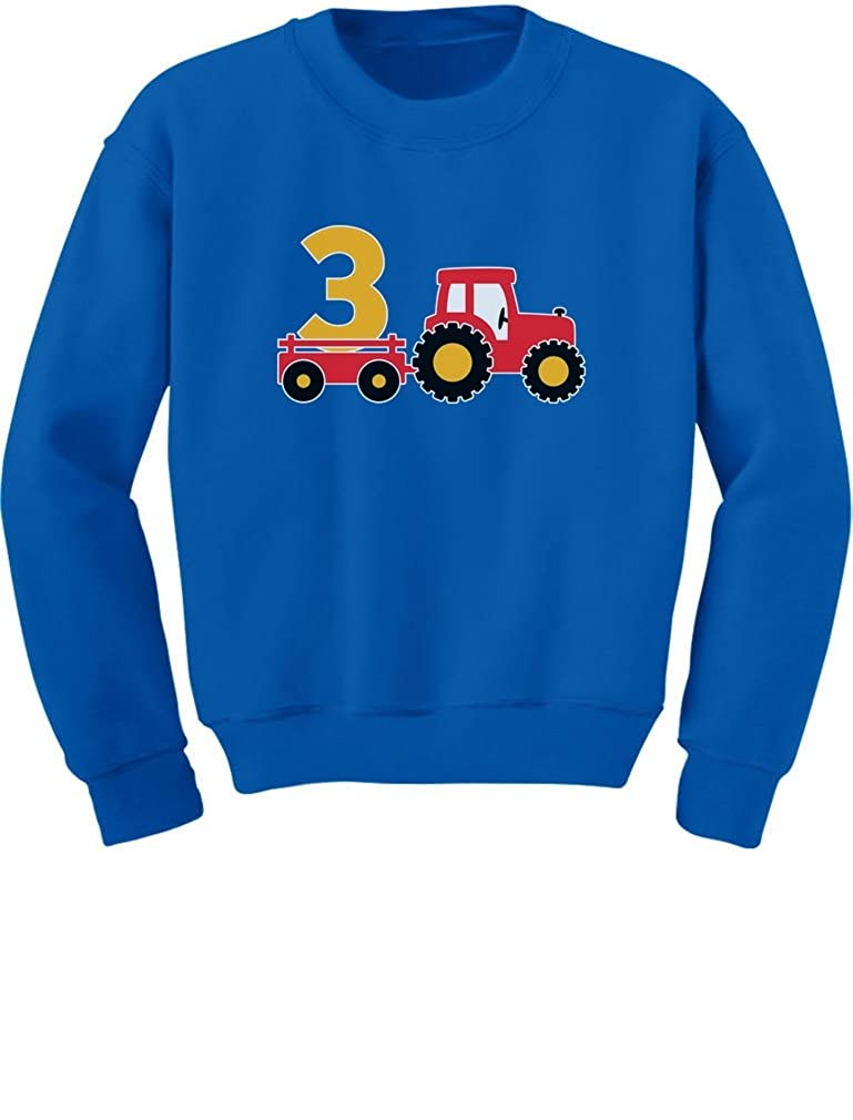 TeeStars 3rd Birthday Gift Construction Party 3 Year Old Boy Toddler/Kids Sweatshirts 3T Blue GtPt0htgf5P0f590o