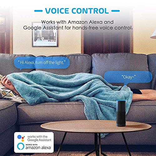Meross WiFi Smart Plug Mini, Alexa and Google Voice Control, App Remote  Control, Timer, Occupies Only One Socket, No Hub Needed, 16A, FCC and ETL
