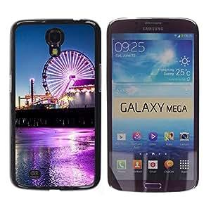 Caucho caso de Shell duro de la cubierta de accesorios de protección BY RAYDREAMMM - Samsung Galaxy Mega 6.3 - Neon Circo