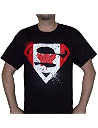 Sporticus Men's DC Comics Superman Distressed Canadian Flag Logo T-shirt