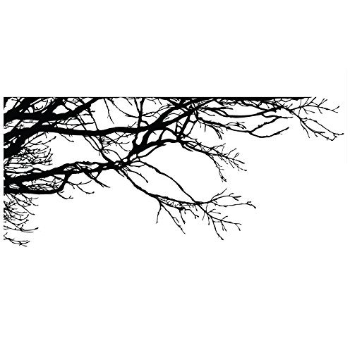 Large Tree Wall Decal Sticker - Semi-Gloss Black Tree Branches, 44in Tall X 100in Wide, Left To Right. Removable, No Paint Needed, Tree Branch Wall Stencil The Easy Way. by Stickerbrand (Image #1)