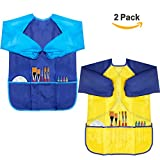 CUBACO 2 Pack Kids Art Smocks Children Waterproof