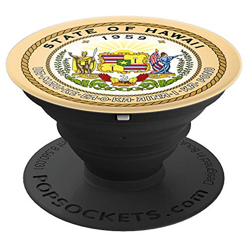- State of Hawaii Seal Flag - United States of America USA - PopSockets Grip and Stand for Phones and Tablets