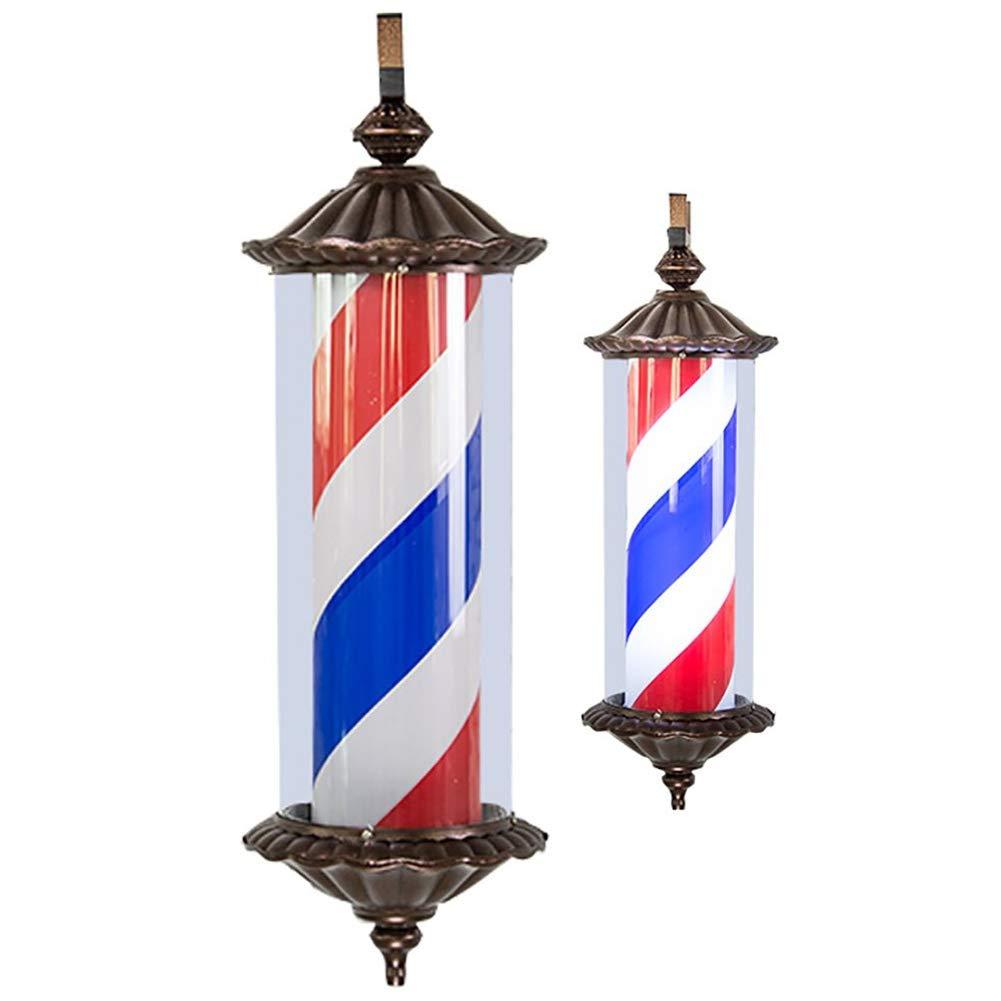 WQPOLE 29 LED Barber Pole Retro Licht Rot Wei/ß Blau Rotierende Beleuchtete Streifen Wandleuchte Rom Stil Friseursalon Friseur Friseur Zeichen
