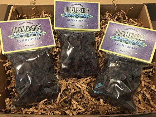 Huckleberry Gummy Bears - Deep dark purple little bears with a chewy huckleberry flavor. (Giant Gummy Bear Costume)