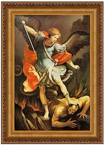 Design Toscano Archangel St. Michael Canvas Replica Painting Small