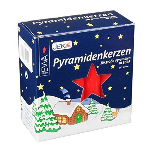 Jeka18 Red 18mm Diameter German Christmas Pyramid Candles