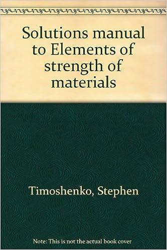 mechanics of materials timoshenko solutions manual