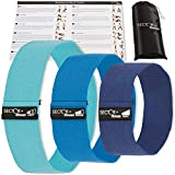 Sector Plus Fitness Hip Resistance Bands | Carrying Bag & Exercise Guide Included